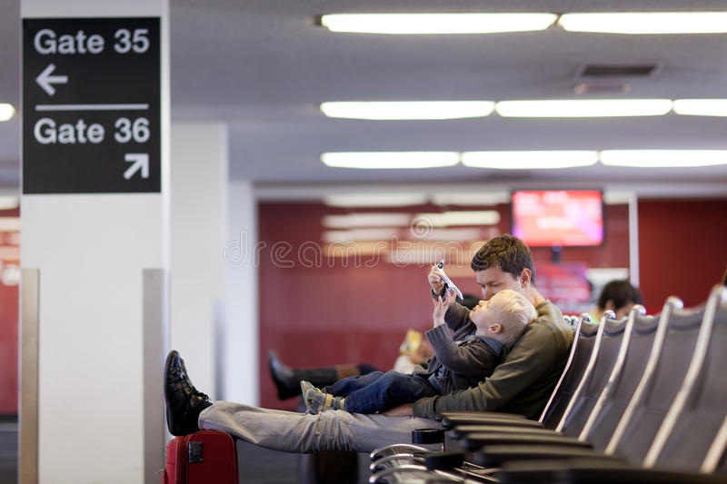 Download Father And Son At The Airport Stock Photo - Image: 23864490