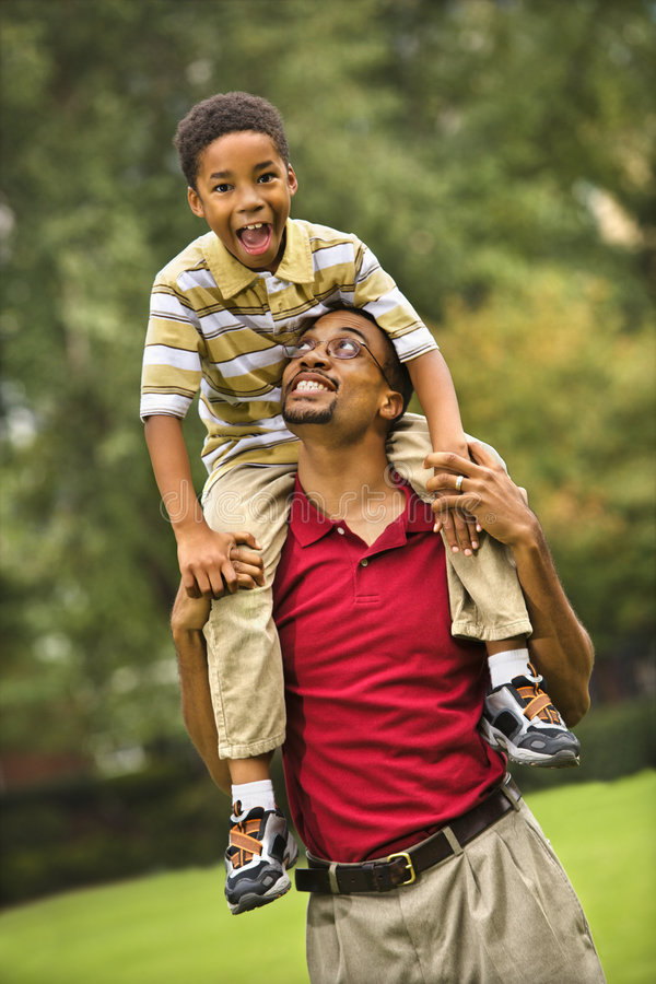 Father And Son Bonding Royalty Free Stock Photo