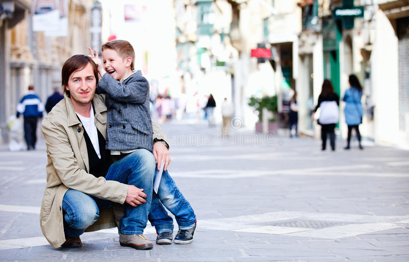 Download Father and son in city stock image. Image of outdoor - 19427093