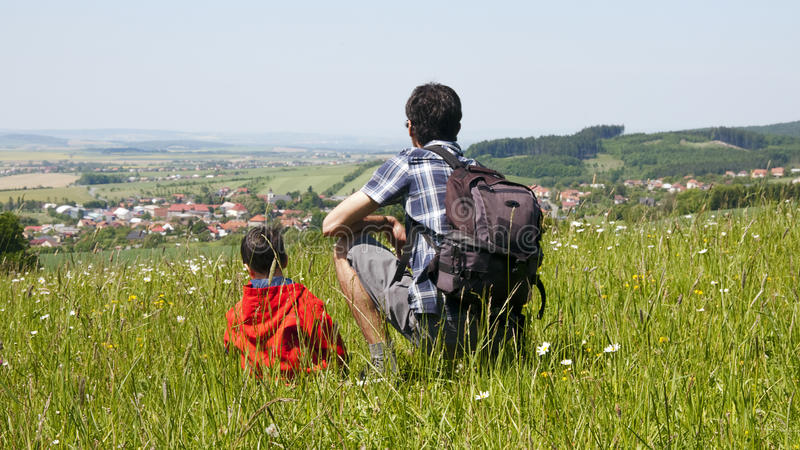 Download Father And Son In Countryside Stock Photo - Image: 27191492
