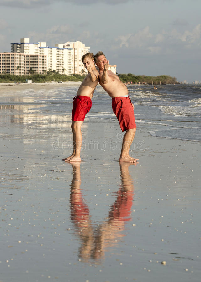 Download Father And Son Enjoy The Beach Stock Image - Image: 32900345