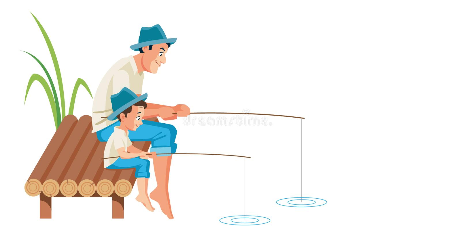 Father Son Fishing Stock Illustrations - 340 Father Son ...