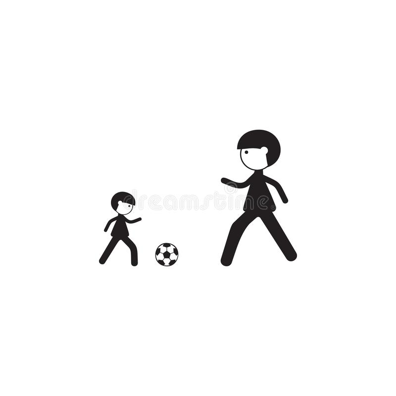 Father And Son Game Icon Illustration Of Family Values Icon