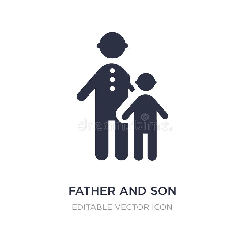 father and son icon on white background. Simple element illustration from People concept vector illustration