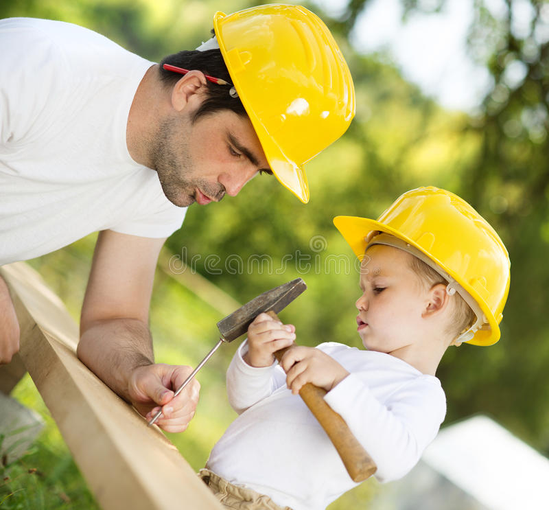 Download Father and son stock image. Image of building, baby, nature - 33627785