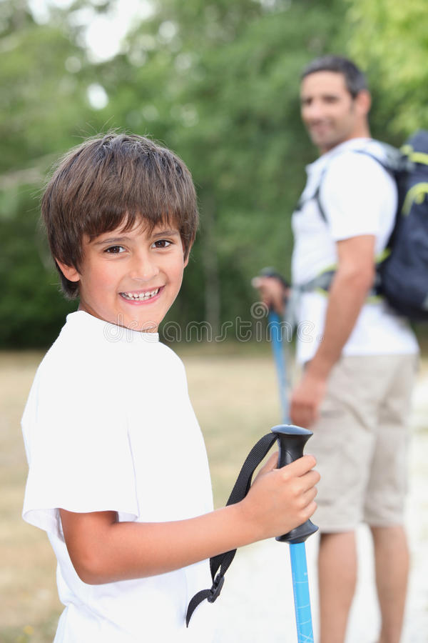 Father And Son Outdoors Stock Photos