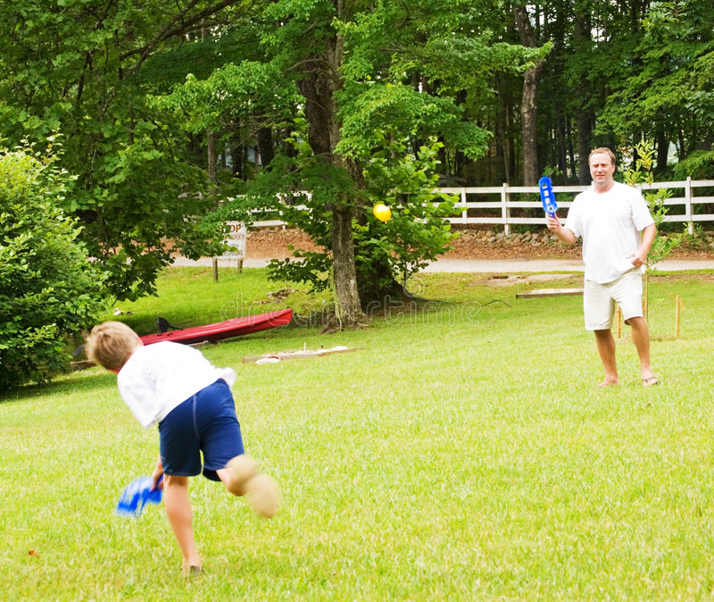 Download Father and Son Playing stock photo. Image of catching - 5604914
