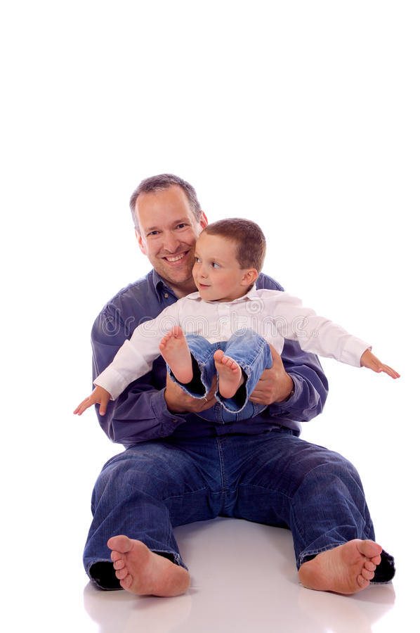 Download Father and son stock image. Image of playing, funny, happiness - 29850493