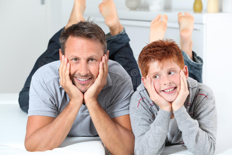 Father and son portrait stock photos