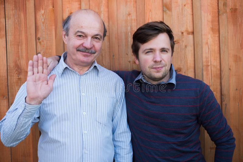 Father and son portrait. royalty free stock image