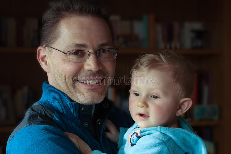 Download Father and son stock photo. Image of interior, adorable - 68662222