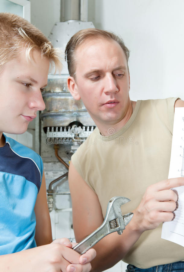 Download The Father And The Son-teenager Stock Image - Image: 21414591