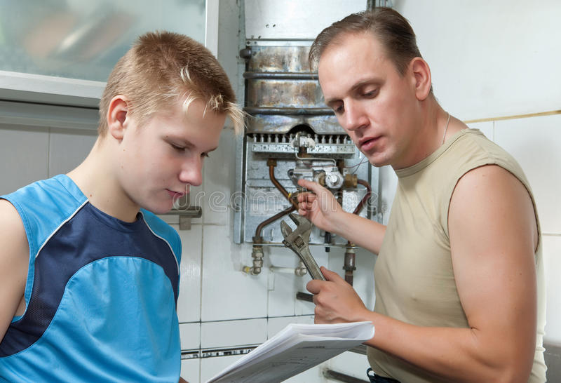 Water Heater Repairs Stock Photo Image Of Hand House