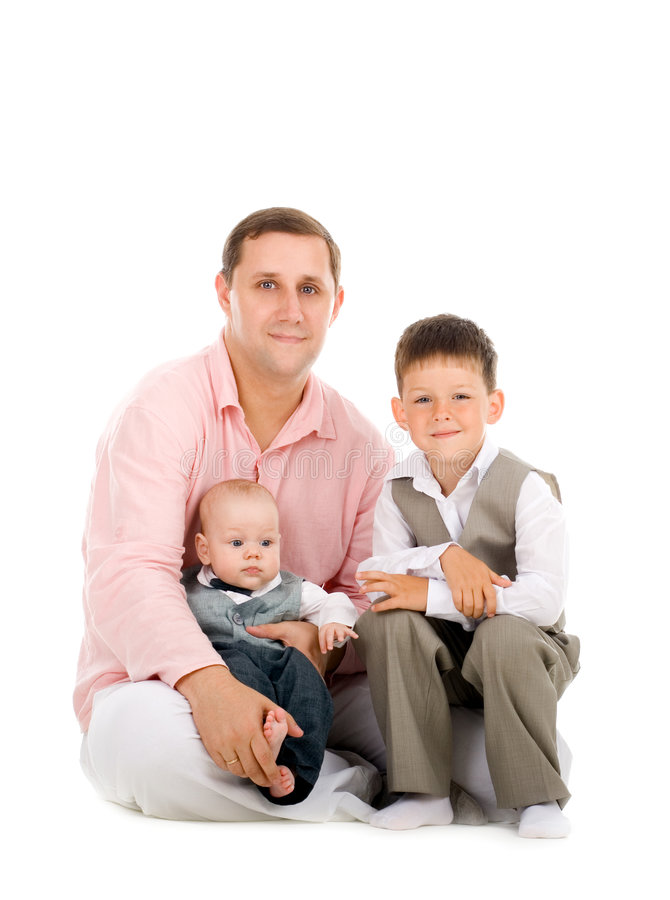 Download Father and sons stock photo. Image of happiness, handsome - 5821638