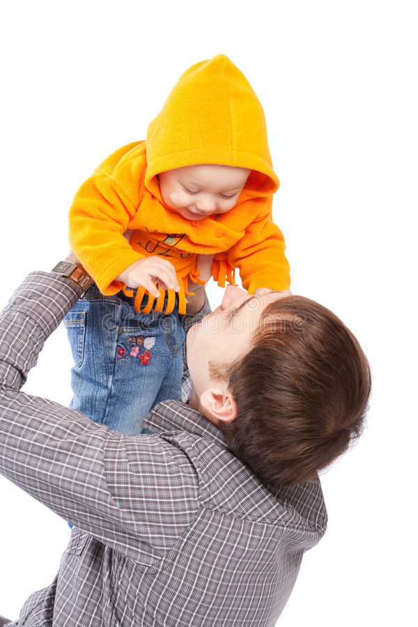 Download Father throwing up baby stock image. Image of father, infant - 7623751