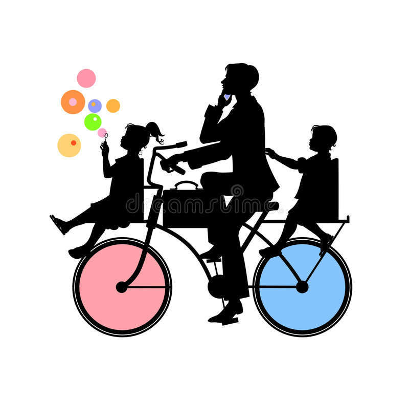 Download Father and two children stock vector. Image of lifestyle - 7274665