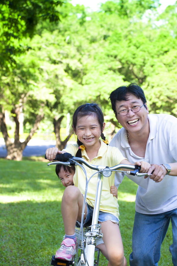 Download Father With Two Little Girls Stock Image - Image: 25376333