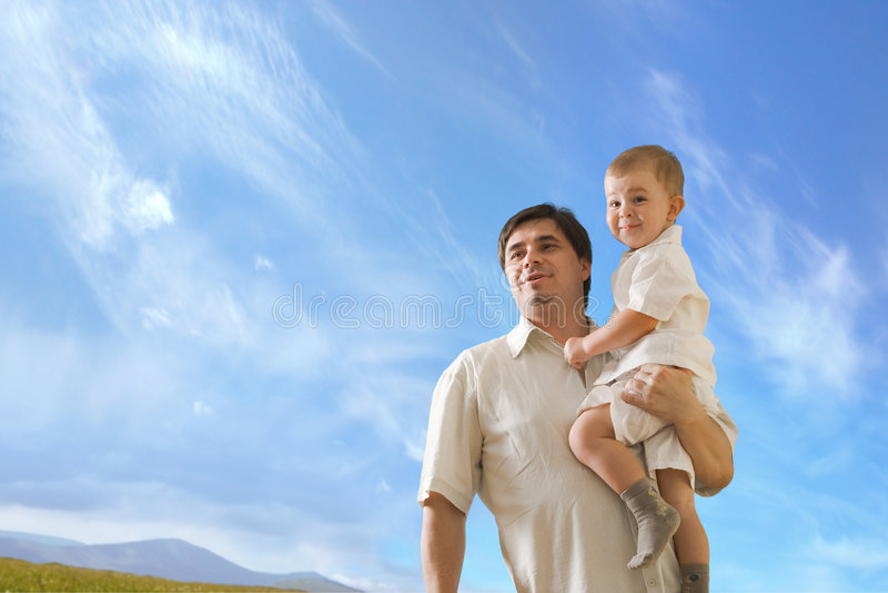 fatherhood στοκ εικόνα με δικαίωμα ελεύθερης χρήσης