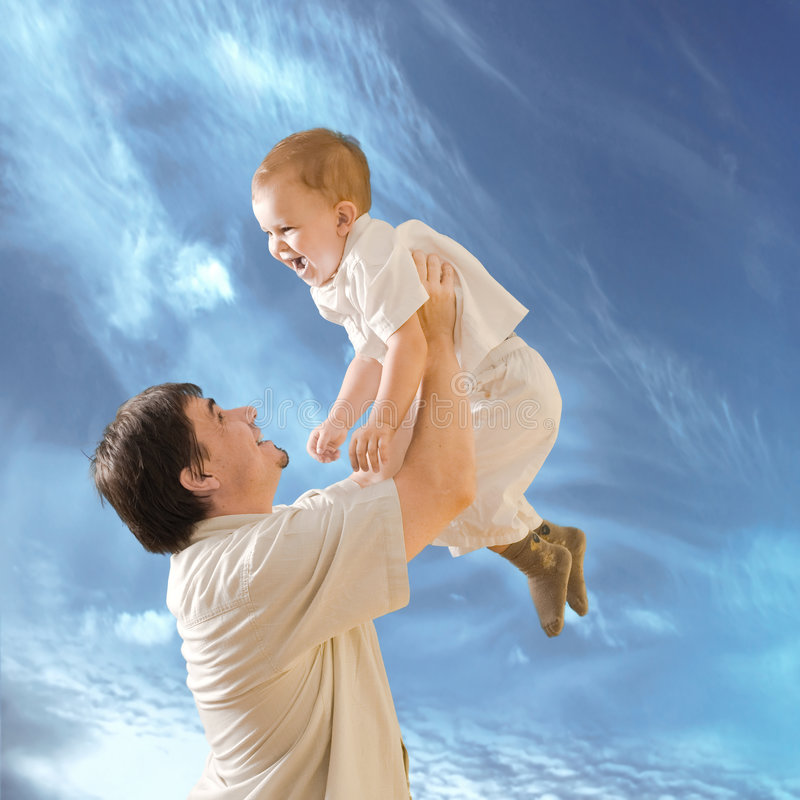 Download Fatherhood stock photo. Image of lifestyle, happy, clear - 3430482