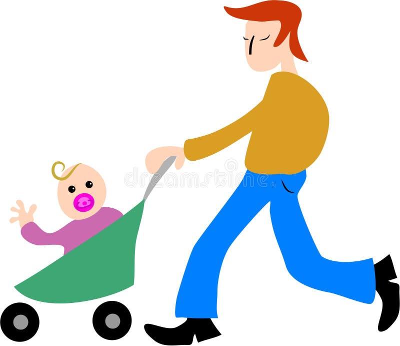 Fatherhood ilustração royalty free