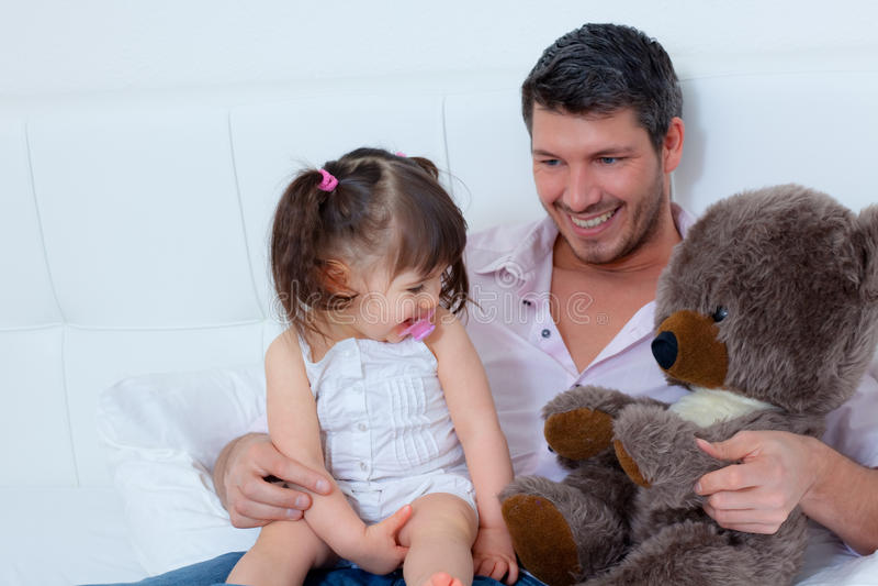 Fatherhood di maternità fotografie stock