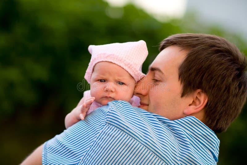 Fatherhood feliz imagens de stock