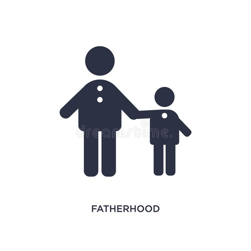fatherhood icon on white background. Simple element illustration from kids and baby concept royalty free illustration