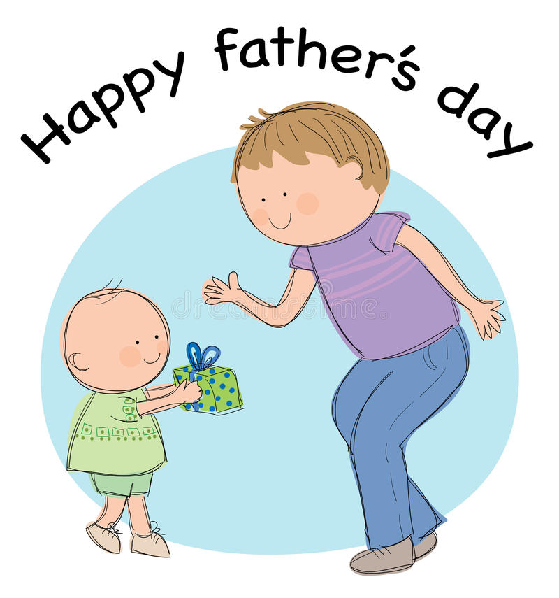 Fathers Day royalty free illustration