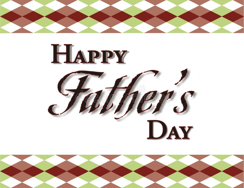 Fathers Day Background Frame royalty free illustration