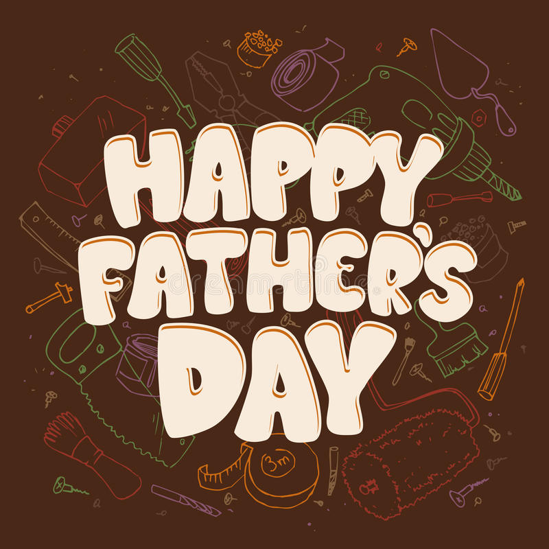 Download Fathers Day Card With Tools. Stock Vector - Image: 41835784