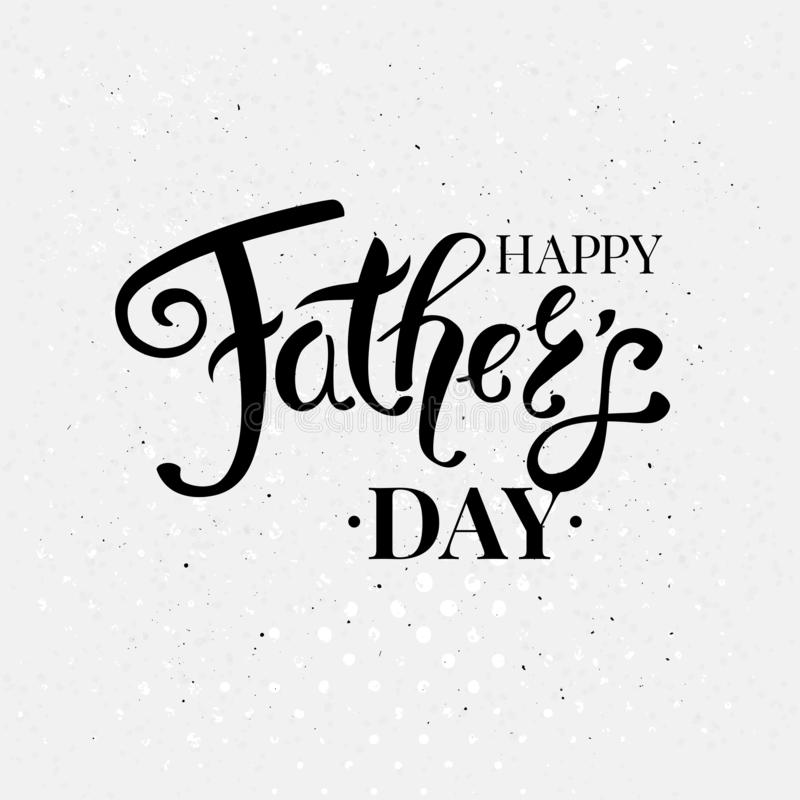 Fathers day card vector illustration. Typographic text. stock illustration