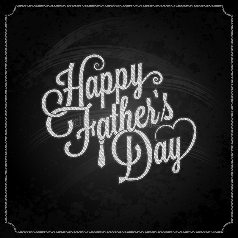 Fathers day chalk lettering background vector illustration