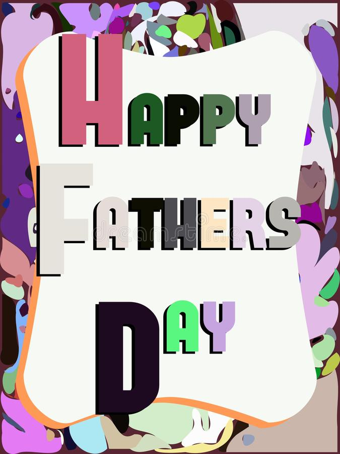 Fathers day greeting card stock illustration