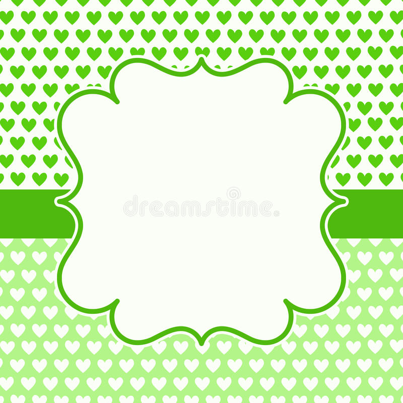 Fathers day hearts greeting card royalty free stock photography