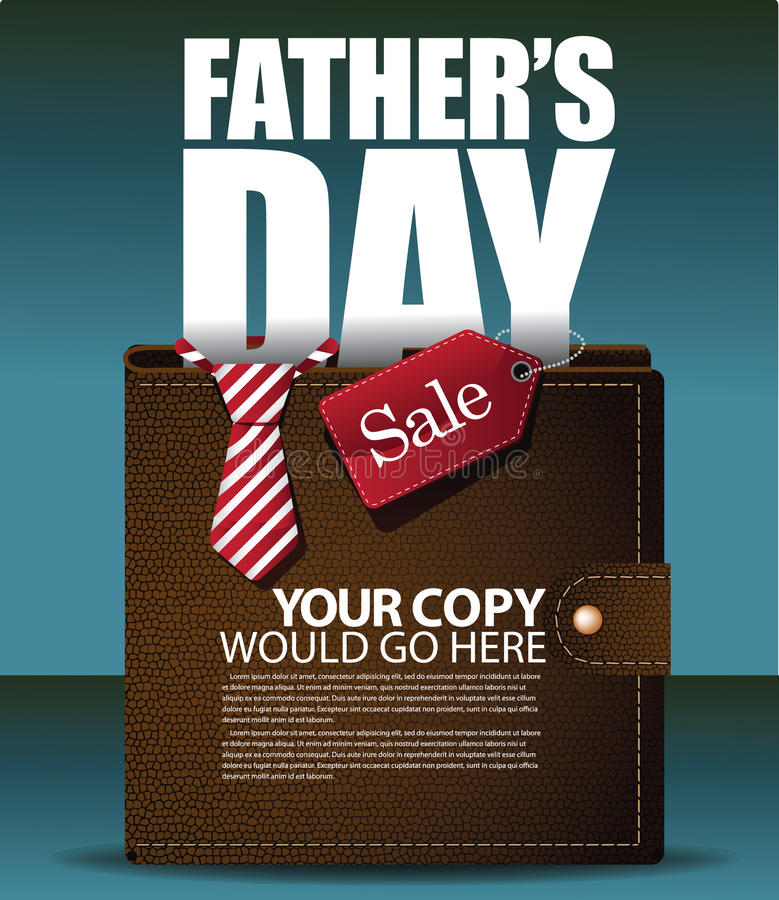 fathers day thumbs up card fathers day wallet background eps 10 vector stock 6568