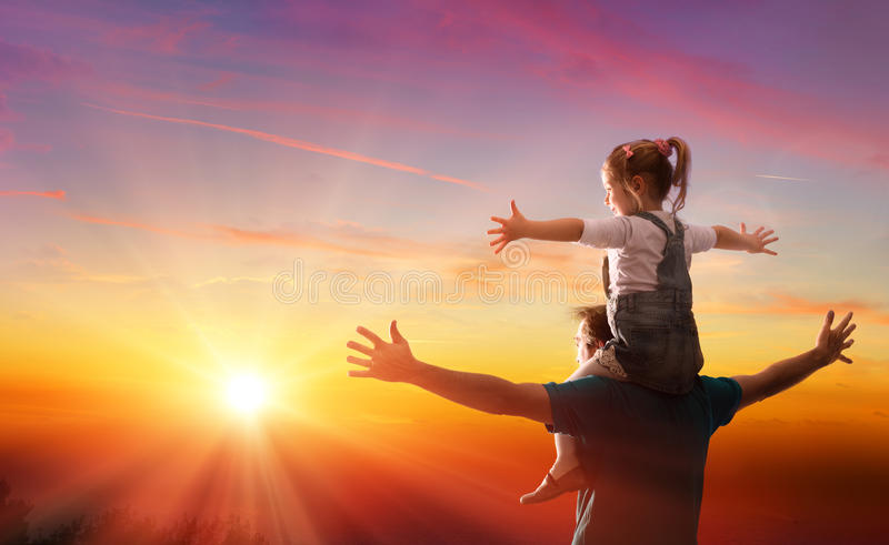 Fathers Day Theme - Daughter With Daddy royalty free stock image