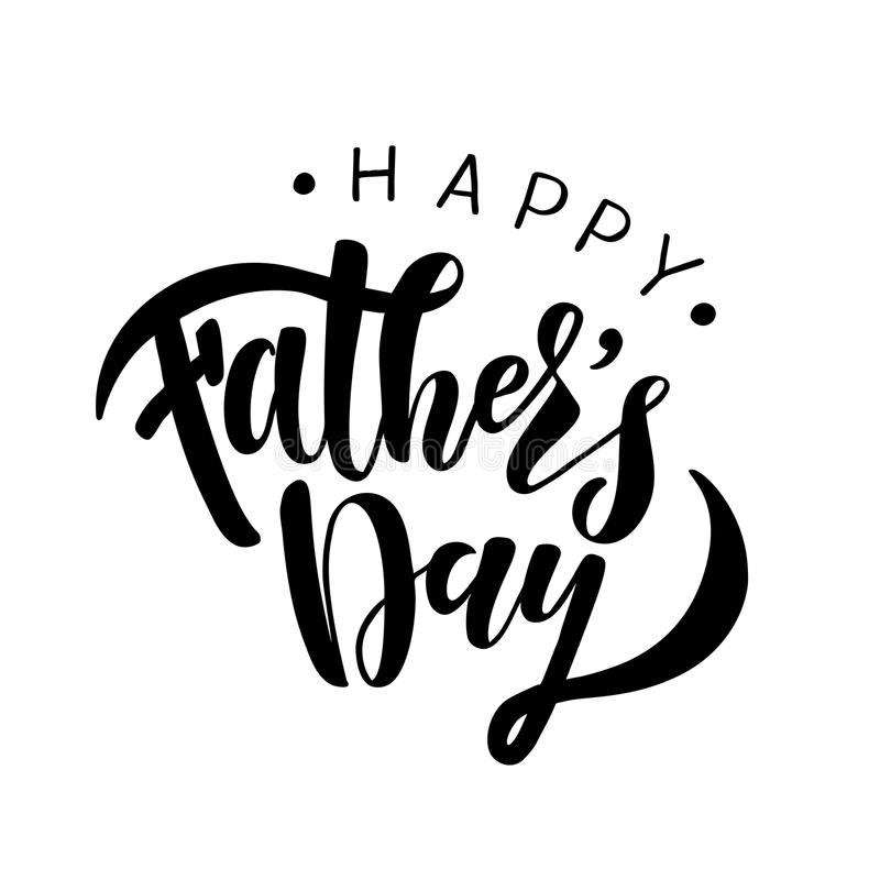 Happy Fathers Day Greeting Card Template stock photography