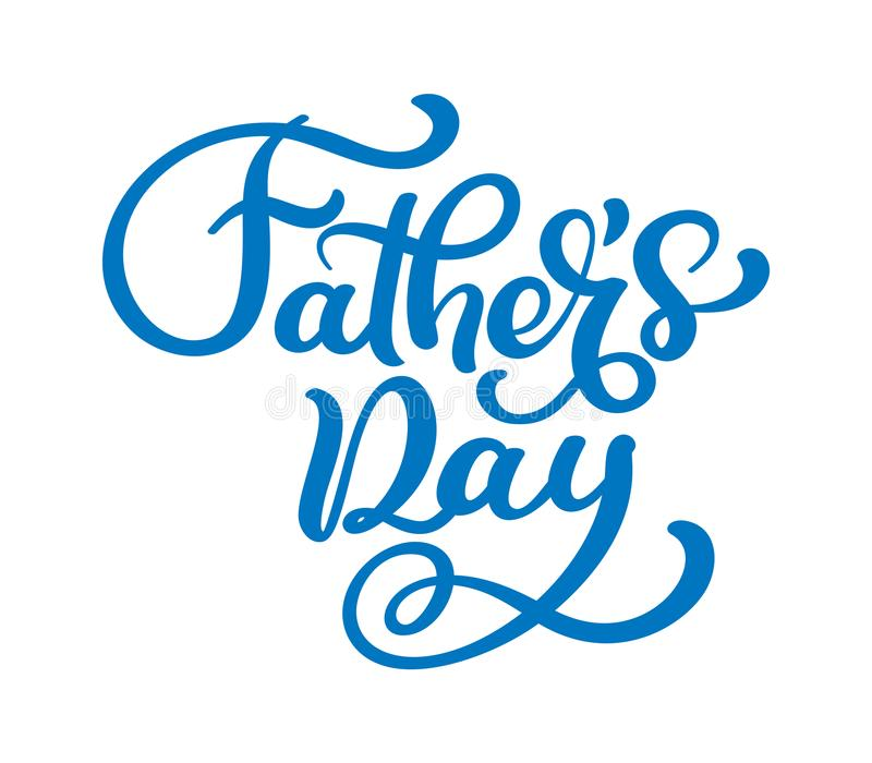 Fathers day vector lettering background. Phrase Happy Fathers Day calligraphy light banner. Dad my king illustration royalty free illustration