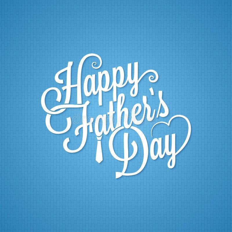 Fathers day vintage lettering background vector illustration