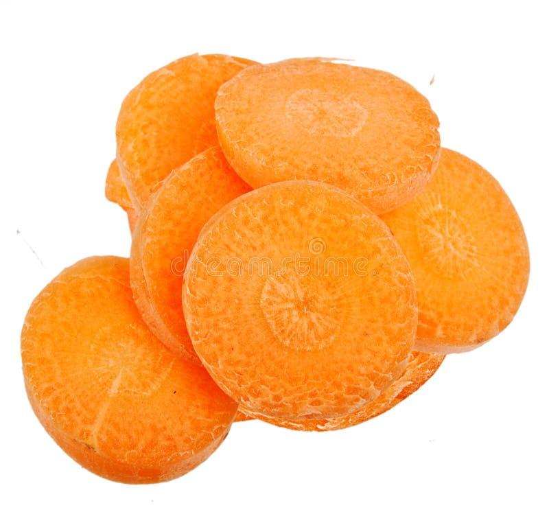 Fatia da cenoura isolada