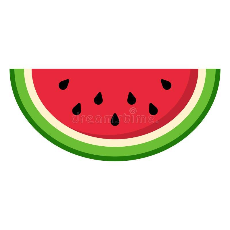 Fatia da melancia ilustração stock