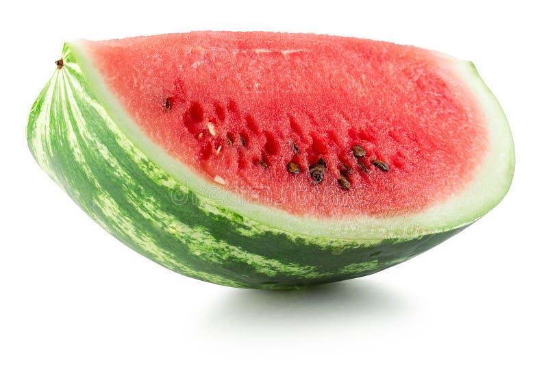 Fatia da melancia isolada no fundo branco fotos de stock