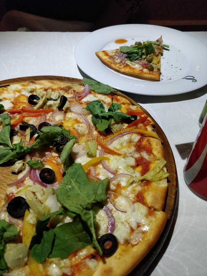 Fatia da pizza fotografia de stock royalty free