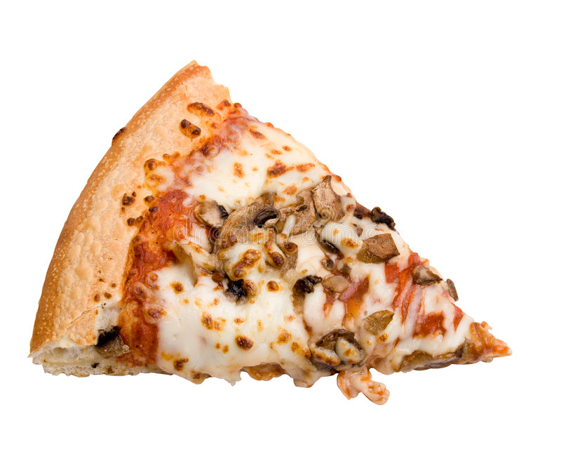 Fatia da pizza do cogumelo foto de stock