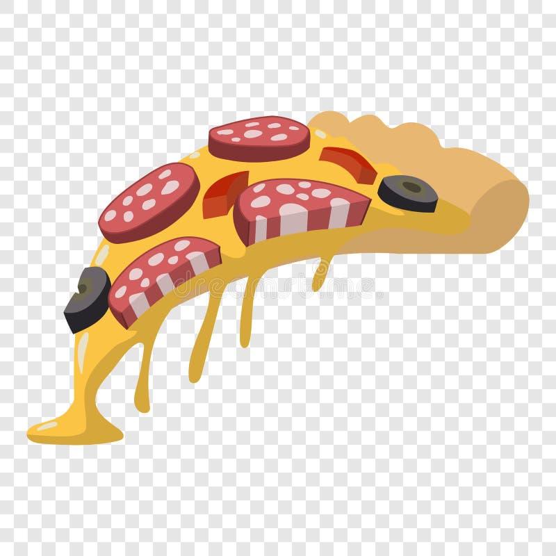 Fatia da pizza do salame ilustração stock