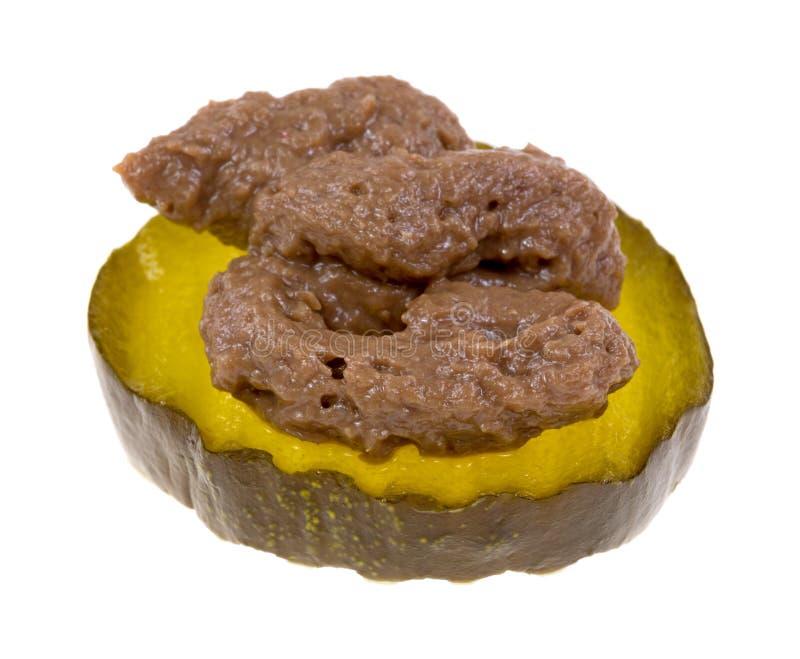 Fatia da salmoura doce com pasta de anchova imagens de stock