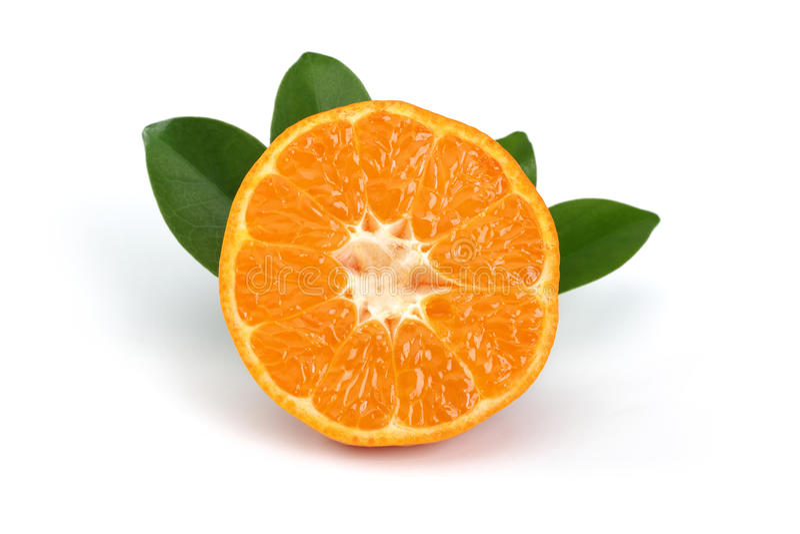 Fatia da tangerina fotos de stock royalty free