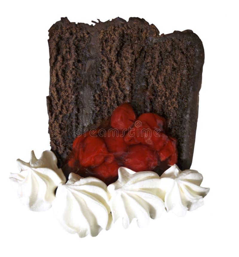 Fatia de bolo de camada do chocolate imagem de stock royalty free