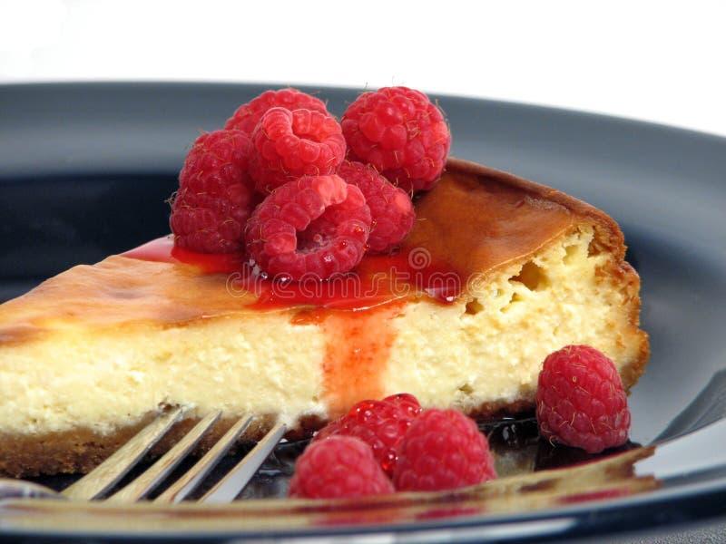 Fatia de bolo de queijo fotografia de stock
