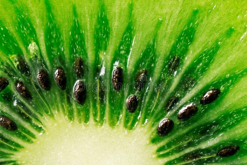 Fatia de fruta de quivi suculenta imagem de stock royalty free